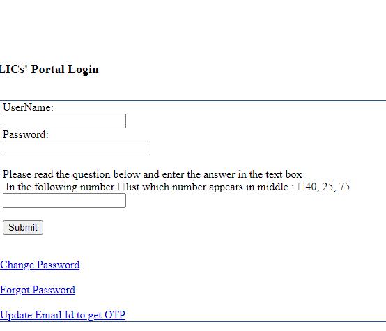 lic merchant Portal login